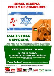Acto en Apoyo a la causa Palestina del pasado Febrero