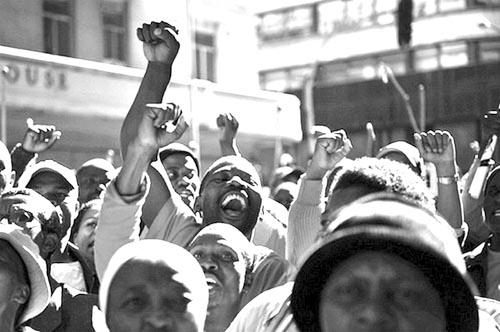 huelga sudafrica construccion