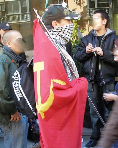 jovenes comunistas mani