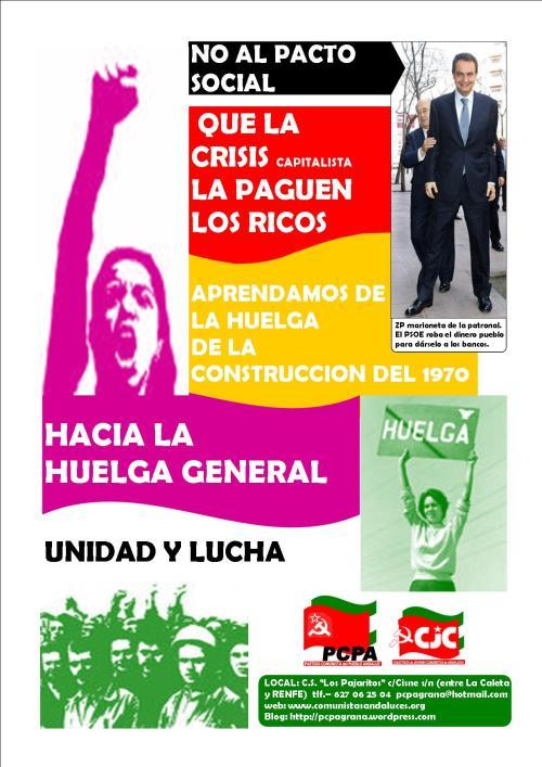 cartel contra el pacto social pcpa graná COLOR