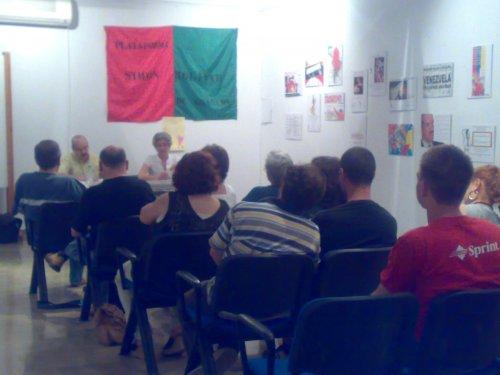 Granada. junio´09 Charla de Carlos Roitman invitado por la Plataforma de Solidaridad S. Bolivar